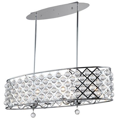 Carelton 6-Light Kitchen Island Pendant Finish: Polished Chrome