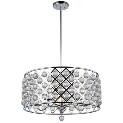 Carelton 5-Light Crystal Chandelier Finish: Polished Chrome