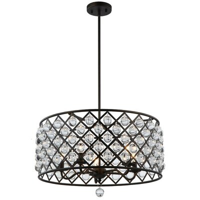 Carelton 5-Light Crystal Chandelier Finish: Espresso