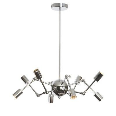 Desoto 8-Light Cluster Pendant Finish: Polished Chrome
