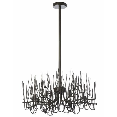 Sparta 8-Light Candle-Style Chandelier Finish: Espresso