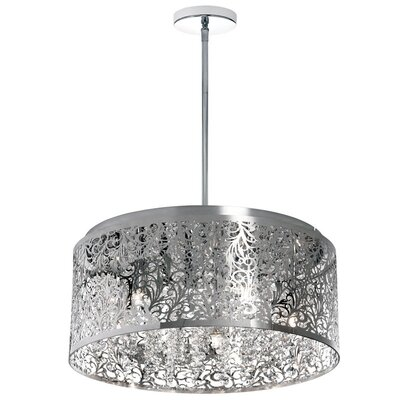 Siley 8-Light Drum Chandelier Finish: Polished Chrome