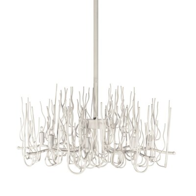 Sparta 8-Light Candle-Style Chandelier Finish: Matte White