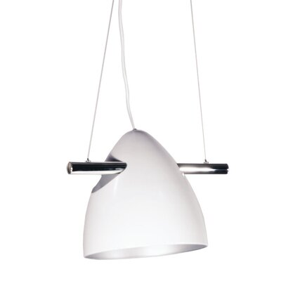 Nevaeh 1-Light Bowl Pendant Shade Color: White