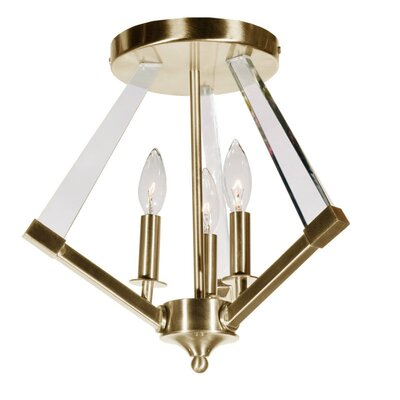 Altlass 3-Light Flush Mount Finish: Vintage Bronze