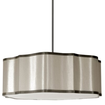 Atrow 4-Light Drum Pendant Shade Color: Pebble