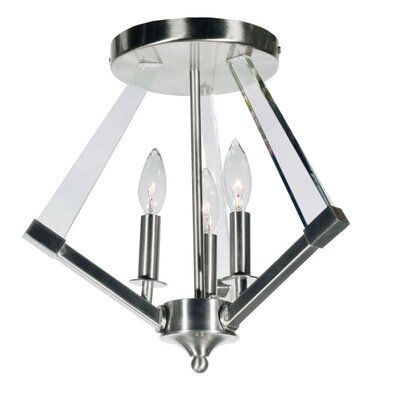 Altlass 3-Light Flush Mount Finish: Polished Chrome