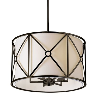 Crue 6-Light Drum Pendant Finish: Vintage Oil Bronze
