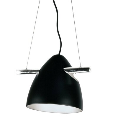 Nevaeh 1-Light Bowl Pendant Shade Color: Matte Black