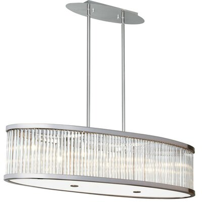 Greffen 7-Light Drum Pendant Finish: Satin Chrome