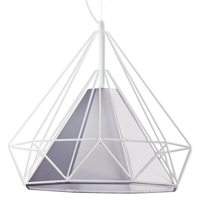 Nevaeh 1-Light Foyer Pendant Shade Color: Gray