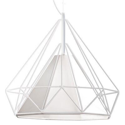 Nevaeh 1-Light Foyer Pendant Shade Color: White