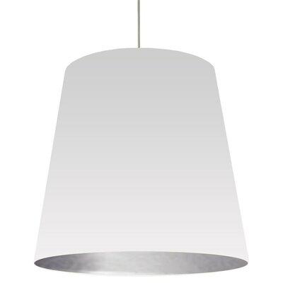 Odum 1-Light Pendant Finish: White/Silver, Size: 32 H x 32 W x 32 D