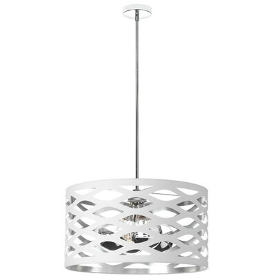 Countess 4-Light Drum Pendant Shade Color: White