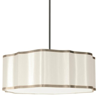 Atrow 4-Light Drum Pendant Shade Color: Cream