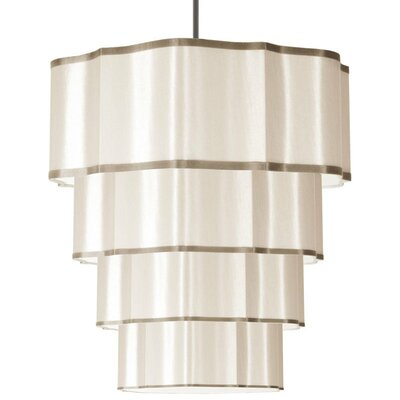 Atrow 16-Light Drum Pendant Shade Color: Cream