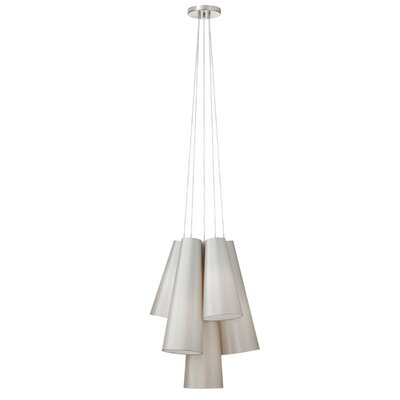 Pixley 5-Light Cascade Pendant Finish: Pebble