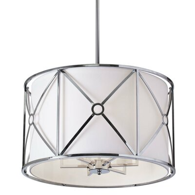 Crue 6-Light Drum Pendant Finish: Polished Chrome