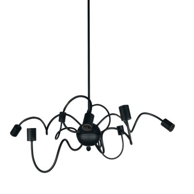 Whurler 8-Light Pendant Finish: Black