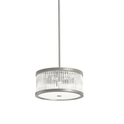 Greffen 4-Light Drum Pendant Finish: Satin Chrome