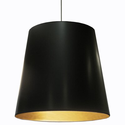Odum 1-Light Pendant Finish: Black/Gold, Size: 32 H x 32 W x 32 D