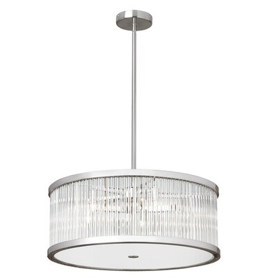Greffen 5-Light Drum Pendant Finish: Satin Chrome