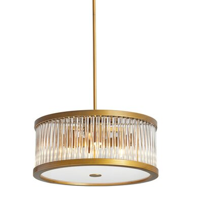 Greffen 5-Light Drum Pendant Finish: Vintage Bronze