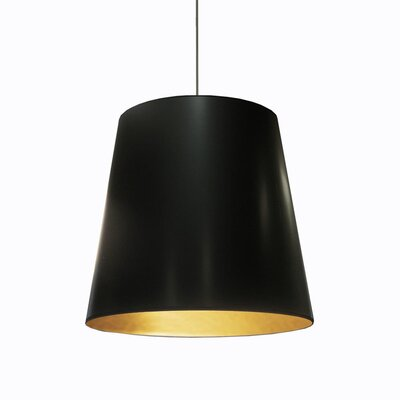 Odum 1-Light Pendant Finish: Black/Gold, Size: 26 H x 26 W x 26 D
