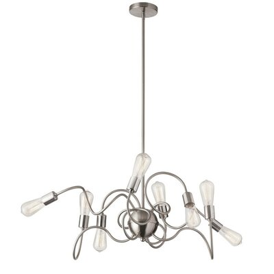 Whurler 8-Light Cluster Pendant Finish: Satin Chrome