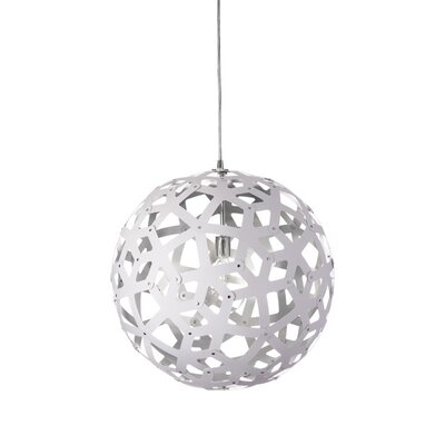 Talma 1-Light Globe Pendant Finish: White/Silver, Size: 18 H x 18 W x 18 D