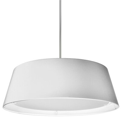 Telda 1-Light Drum Pendant Shade Color: White
