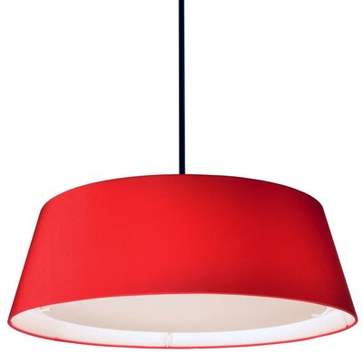 Telda 1-Light Drum Pendant Shade Color: Red