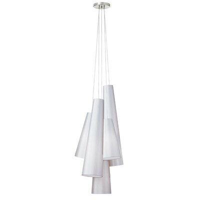 Pixley 5-Light Cascade Pendant Finish: White