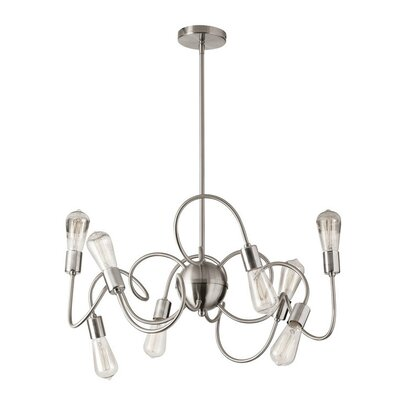 Whurler 8-Light Pendant Finish: Satin Chrome
