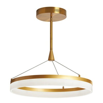 Keplar 1-Light Drum Pendant Size: 13 H x 23.5 W x 23.5 D