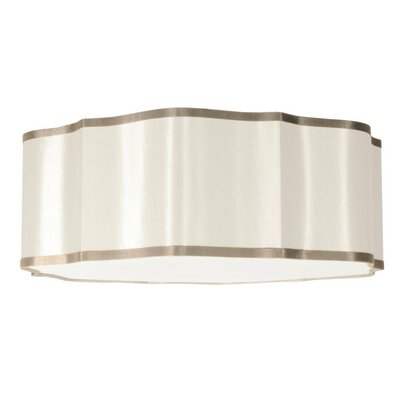 Atrow 3-Light Drum Pendant Shade Color: Cream