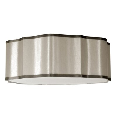 Atrow 3-Light Drum Pendant Shade Color: Pebble