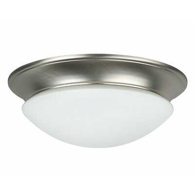 Monterey 2-Light Flush Mount Bulb Type: 13 Watt CFL