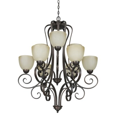 Daniella 9-Light Shaded Chandelier