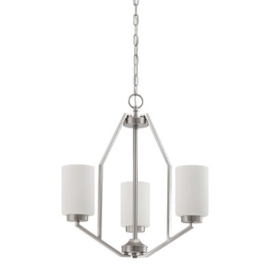 Lepton 3-Light Shaded Chandelier