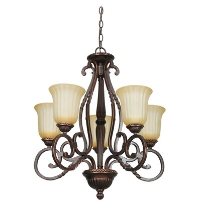 Daniella 5-Light Shaded Chandelier