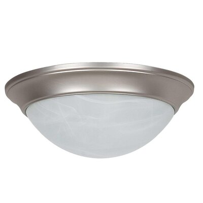 Monterey 1-Light Flush Mount Finish: Satin Nickel