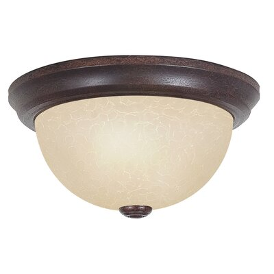 Everest 2-Light Flush Mount Size: 6 H x 15 W x 15 D