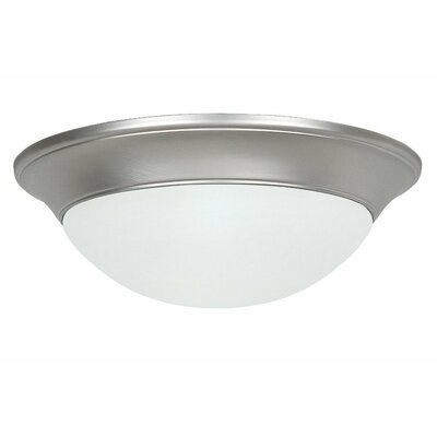 Monterey 2-Light Flush Mount Bulb Type: 13W CFL bulb