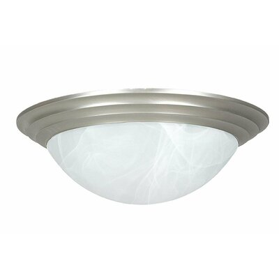 Monterey 1-Light Flush Mount Size: 6 H x 15 W x 15 D
