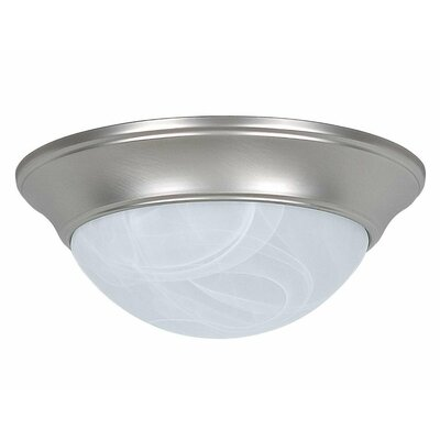 Monterey 2-Light Flush Mount Base Finish: Satin Nickel