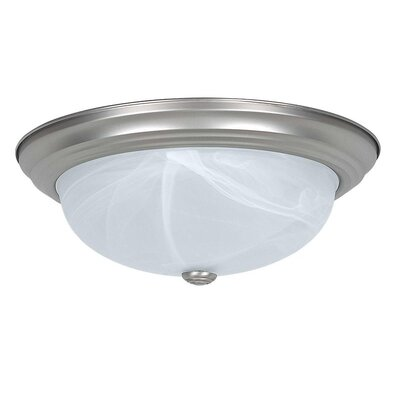 Everest 3-Light Flush Mount Base Finish: Satin Nickel