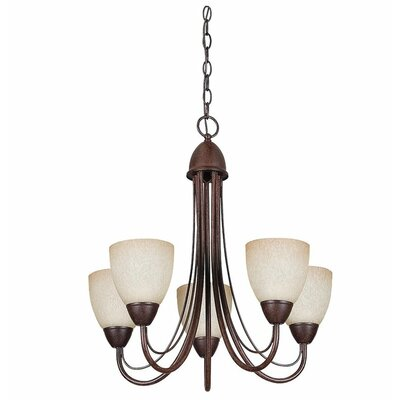 Willow 5-Light Shaded Chandelier Finish: Oil Rubbed Bronze