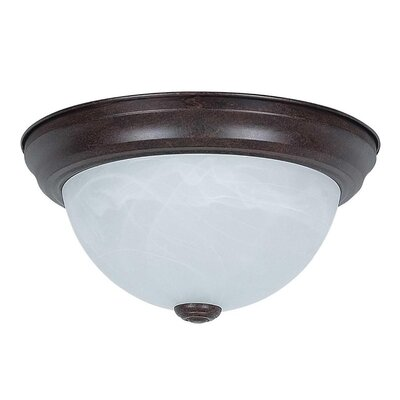 Everest 2-Light Flush Mount Base Finish: Satin Nickel