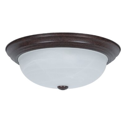 Everest 3-Light Flush Mount Base Finish: Oil Rubbed Bronze